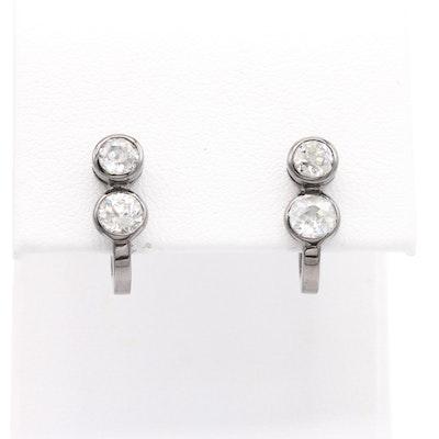 18K Gold 1.45 CTW Diamond Earrings