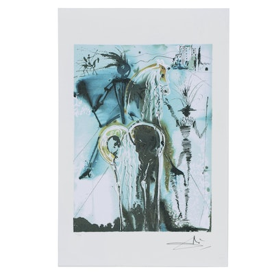 """Giclée After Salvador Dalí from the Dalinean Horse Series """"Don Quixote"""""""
