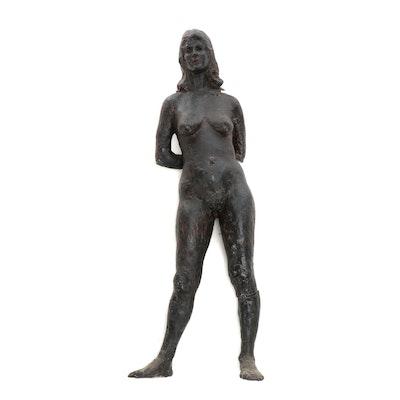 John Tuska Nude Figure Fiberglass Sculpture