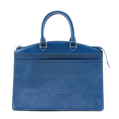 Louis Vuitton Toledo Blue Epi Leather Riviera Bag