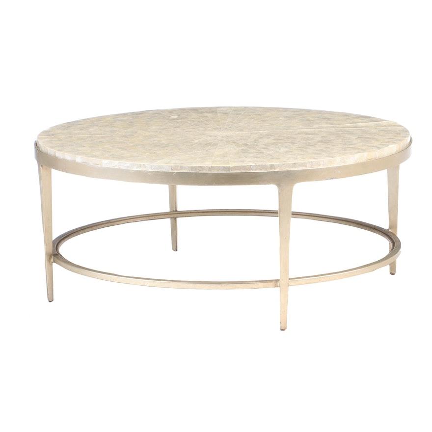 "Lexington ""Gravitas"" Capiz Shell Inlaid Top Coffee Table, Contemporary"