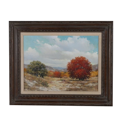 William Slaughter Landscape Oil Painting