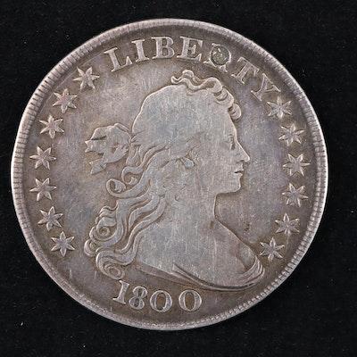 1800 Draped Bust Silver Dollar Coin