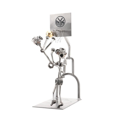 1970-1973 New York Knicks NBA Champs Nuts and Bolts Steel Figurine, Contemporary