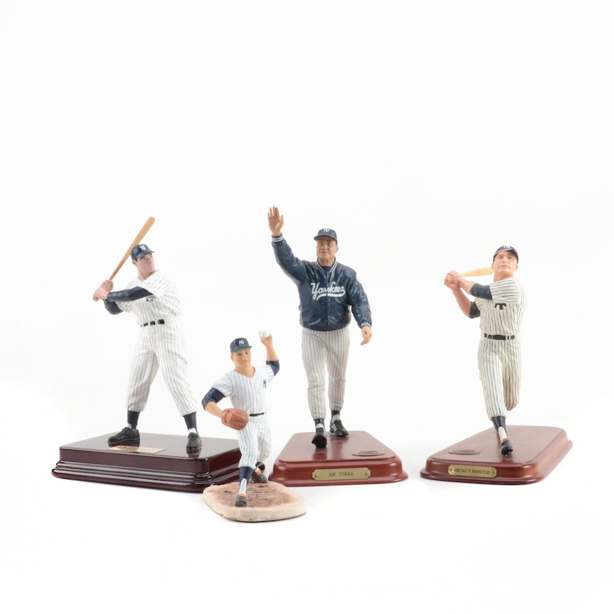 New York Yankees Star Player Statues with Mantle and DiMaggio, Contemporary