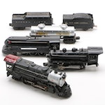 Lionel and Marx Locomotives with Coal-Freight Model Cars, Vintage