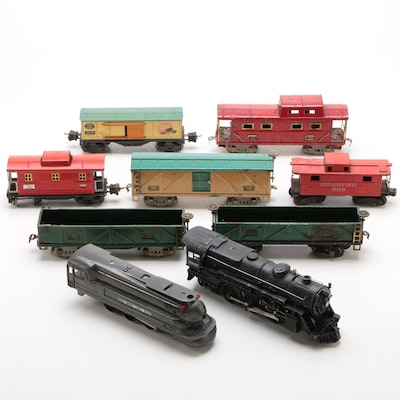 American Flyer and Lionel O Gauge Model Trains with Locomotives, Vintage