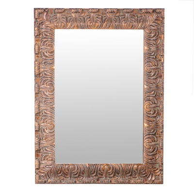 Baroque Style Painted Wall Mirror, Contemporary