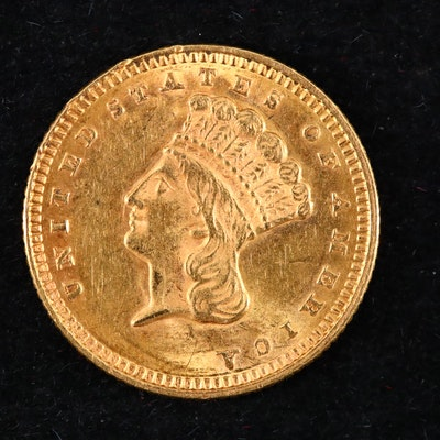 1873 Indian Princess Head $1 Gold Coin
