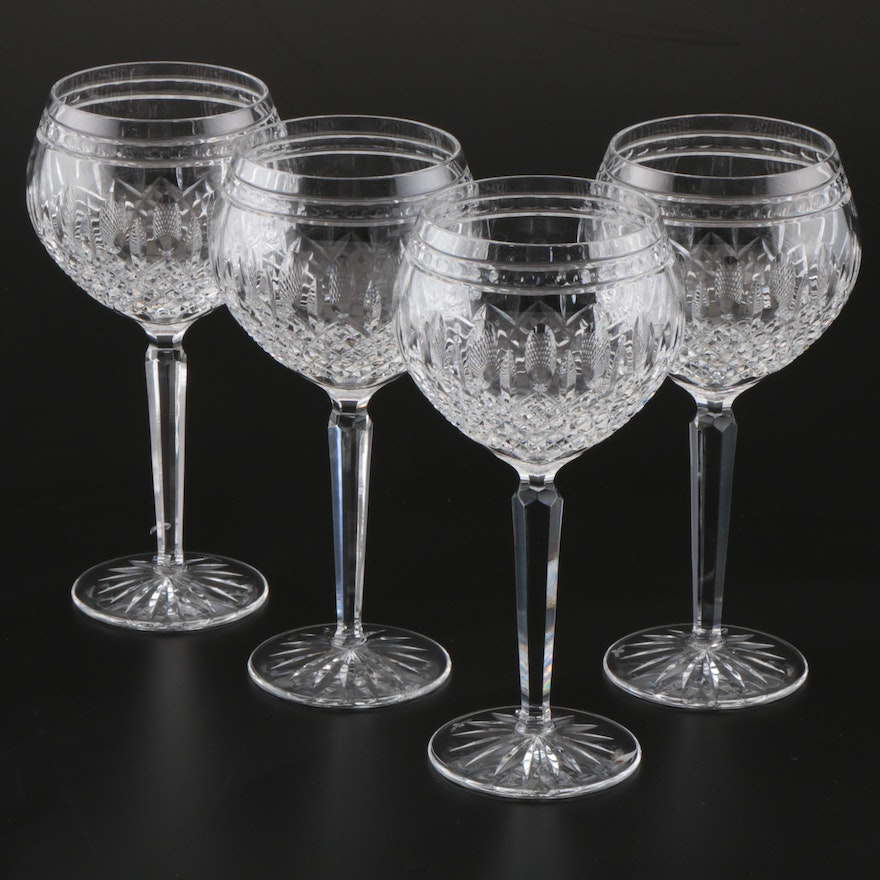 "Waterford Crystal ""Clarendon"" Water Goblets, 21st Century"