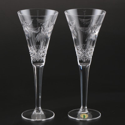 "Waterford Crystal Millennium Collection ""Hope"" Champagne Toasting Flutes"
