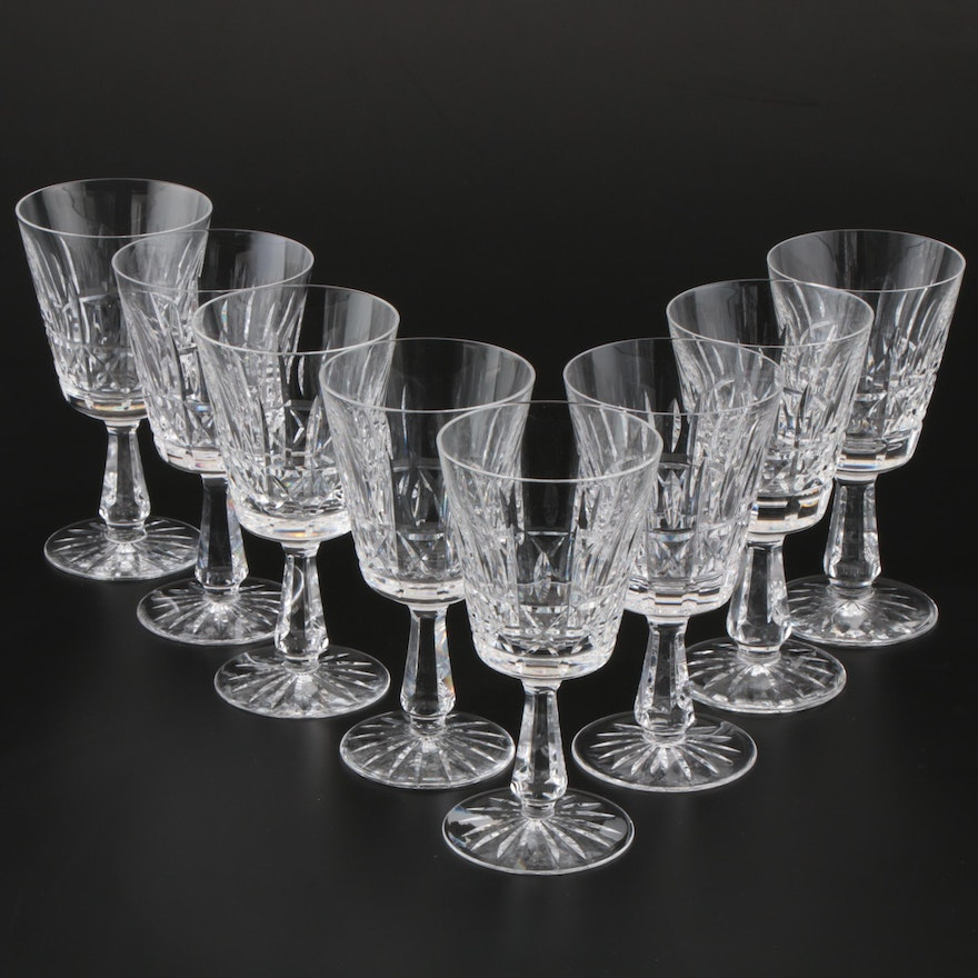 "Waterford Crystal ""Kylemore"" Water Goblets, Mid/Late 20th Century"