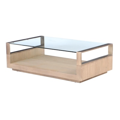 Glass Top Coffee Table, Contemporary