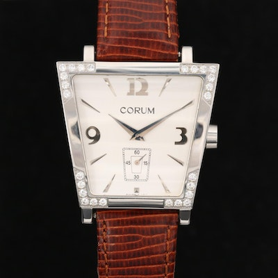 Corum Trapeze Stainless Steel and Diamond Quartz Wristwatch
