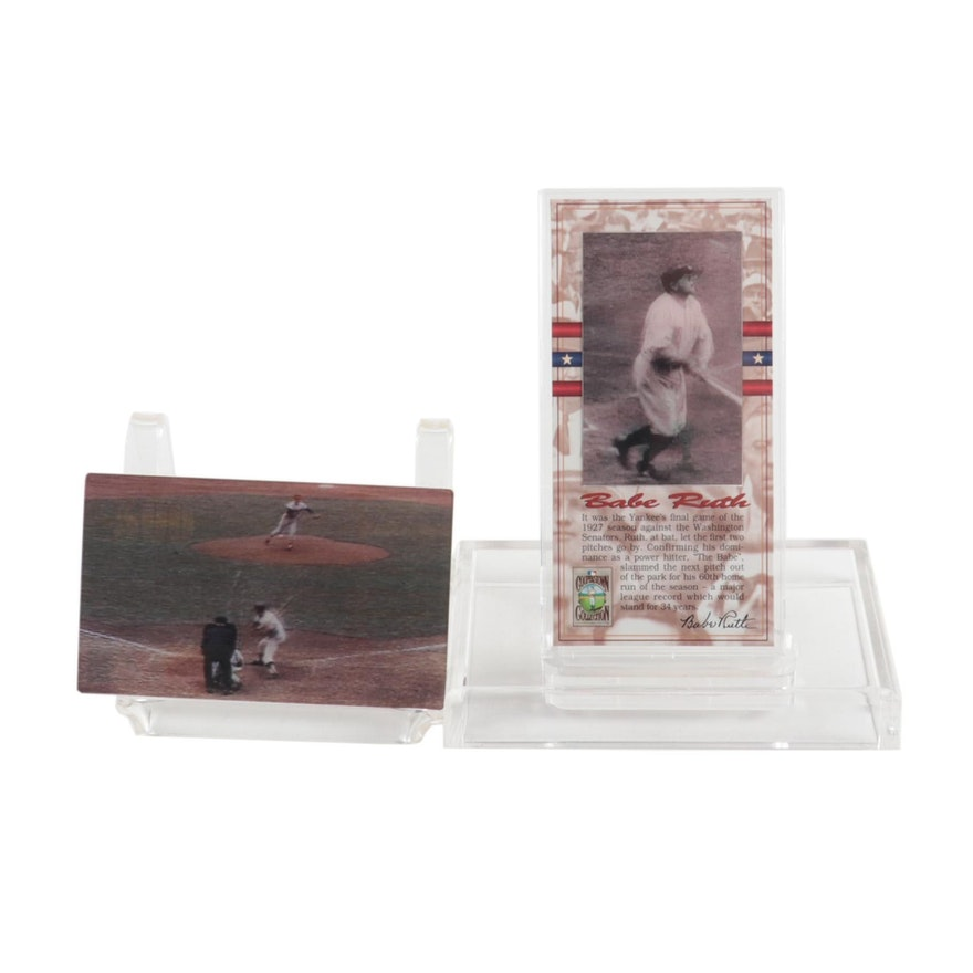 Babe Ruth and Mickey Mantle Baseball Motion Cards, Contemporary