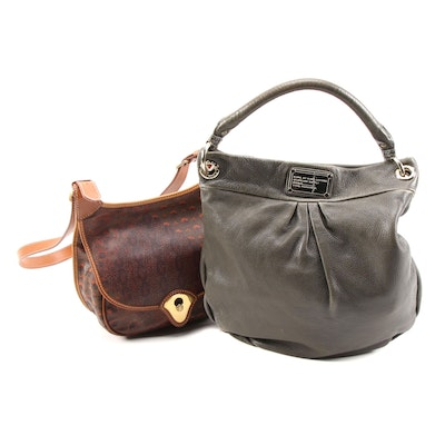 Escada Coated Canvas and Leather Bag and Marc by Marc Jacobs Leather Hobo Bag