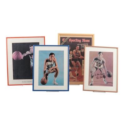 Bill Bradley New York Knicks Signed 1970 Sporting News Magazine and More