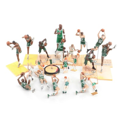 Boston Celtics Action Figures Including Hall of Fame Players Bird and Havlicek