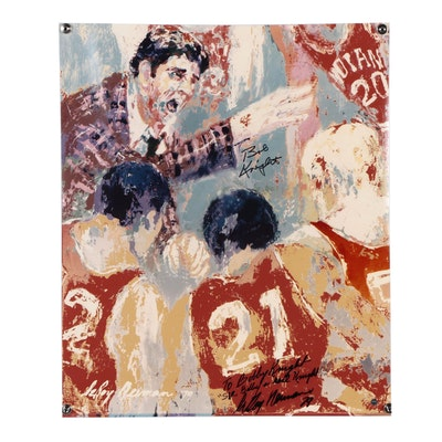 Bobby Knight Signed LeRoy Nieman Indiana University Basketball Print