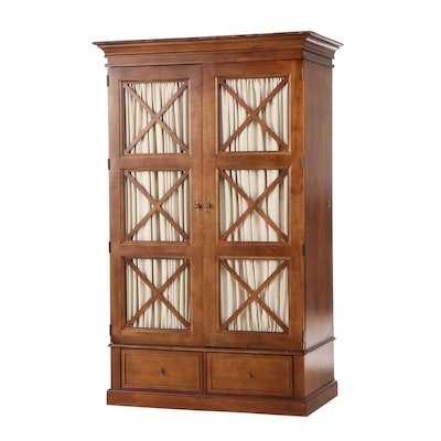 Neoclassical Style American of Martinsville Walnut Media Cabinet