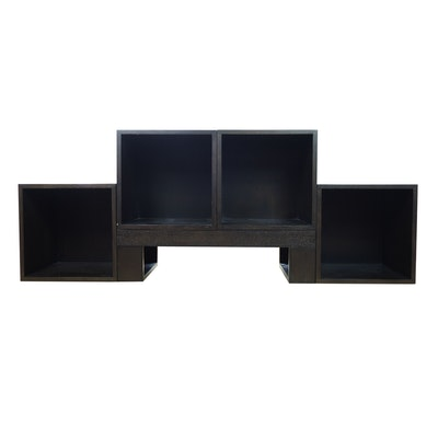 Wooden Storage Cubes and Stand