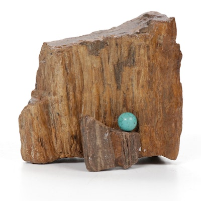 Hal Stevens Petrified Wood and Dyed Howlite Assemblage