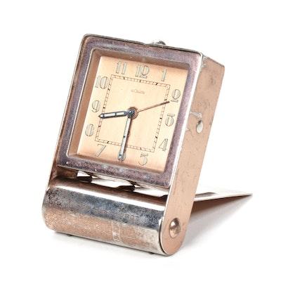 Jaeger LeCoultre Art Deco Swiss Travel Alarm Clock
