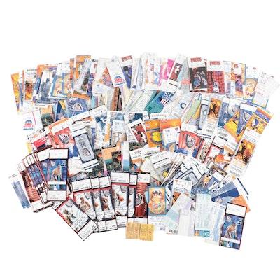 Professional Basketball, Baseball and Entertainment Ticket Stubs