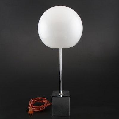 "Sonneman Mid Century Modern ""Lollipop"" Chrome Table Lamp"