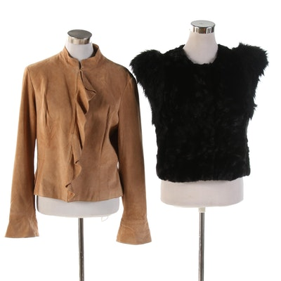 Kenar Suede Ruffle Jacket and Skaist Taylor for Target Faux Fur Jacket