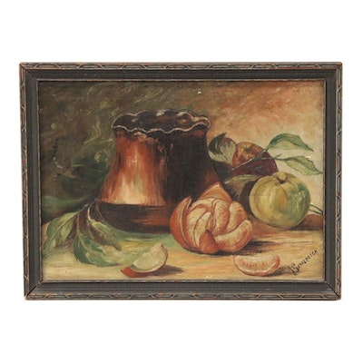 J. Gorrebeeck Still Life Oil Painting