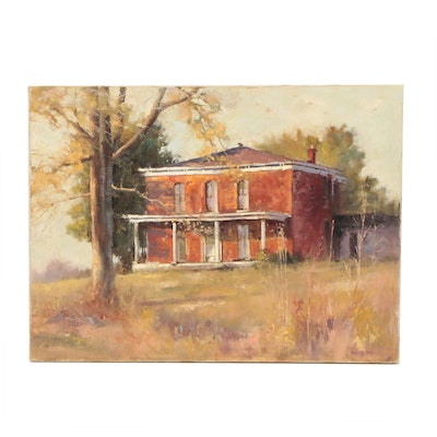 Betty Ray Oil Painting of House