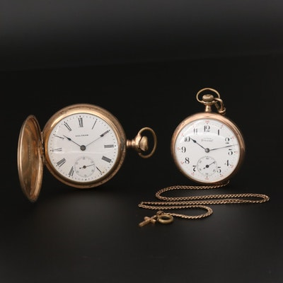 Gold Filled 1901 Waltham Hunter Case and 1916 Illinois Open Face Pocket Watches