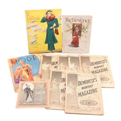 """1888 """"Demorest's Monthly Magazine"""" and Other Fashion Magazines and Catalogs"""
