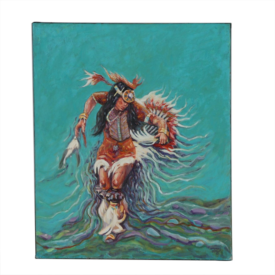 """Rebecca Manns Oil Painting """"The Dance of Life"""", 2016"""
