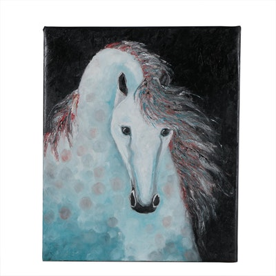 """Rebecca Manns Oil Painting """"Dreamlit Andalusian"""", 2019"""