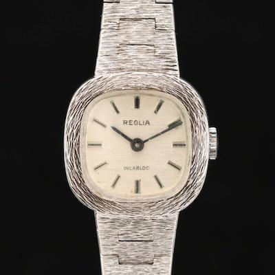 Vintage Reglia Sterling Silver Stem Wind Wristwatch