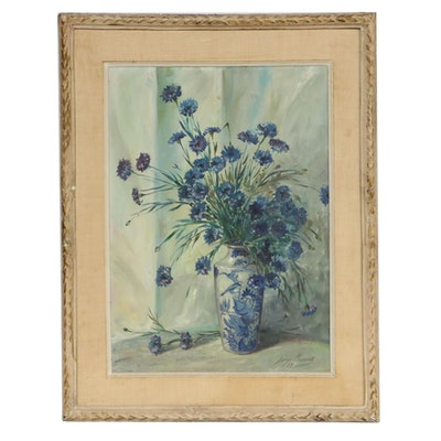 George Cherney Floral Still-Life Oil Painting