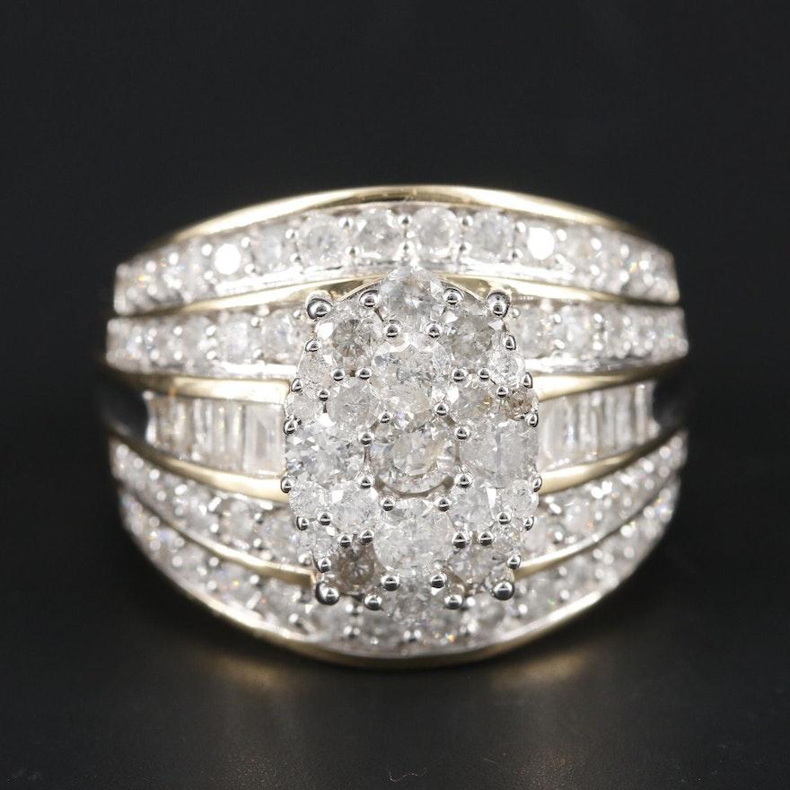 10K Yellow Gold 2.17 CTW Diamond Ring