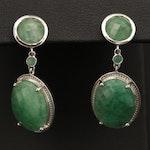 Sterling Silver Beryl Drop Earrings