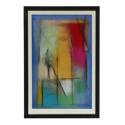 "Abstract Pastel Drawing ""Color Charmer"""