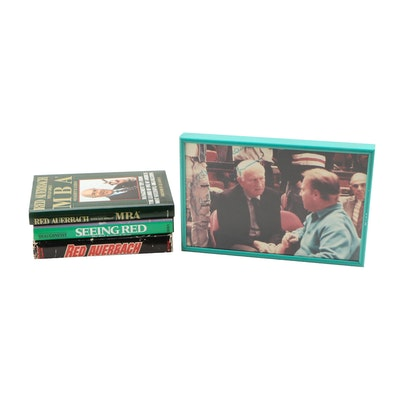 "Red Auerbach Nonfiction Books featuring ""Seeing Red"" and Signed Photograph"