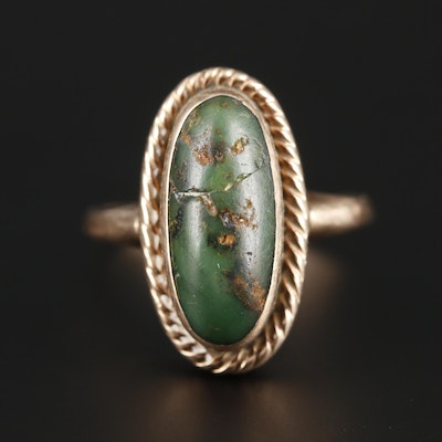 Vintage 10K Yellow Gold Turquoise Ring
