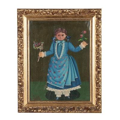 Agapito Labios Folk Portrait Oil Painting