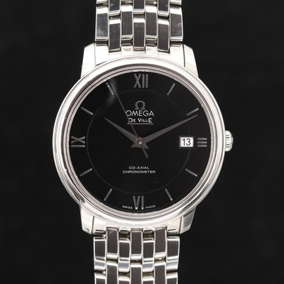 Omega DeVille Prestige Stainless Steel Automatic Wristwatch