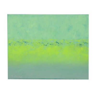 """Rebecca Manns Oil Painting """"Green Dynasty"""""""