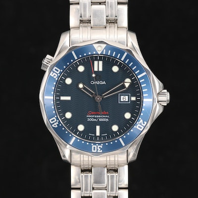 Omega Seamaster 300M Stainless Steel Quartz Wristwatch