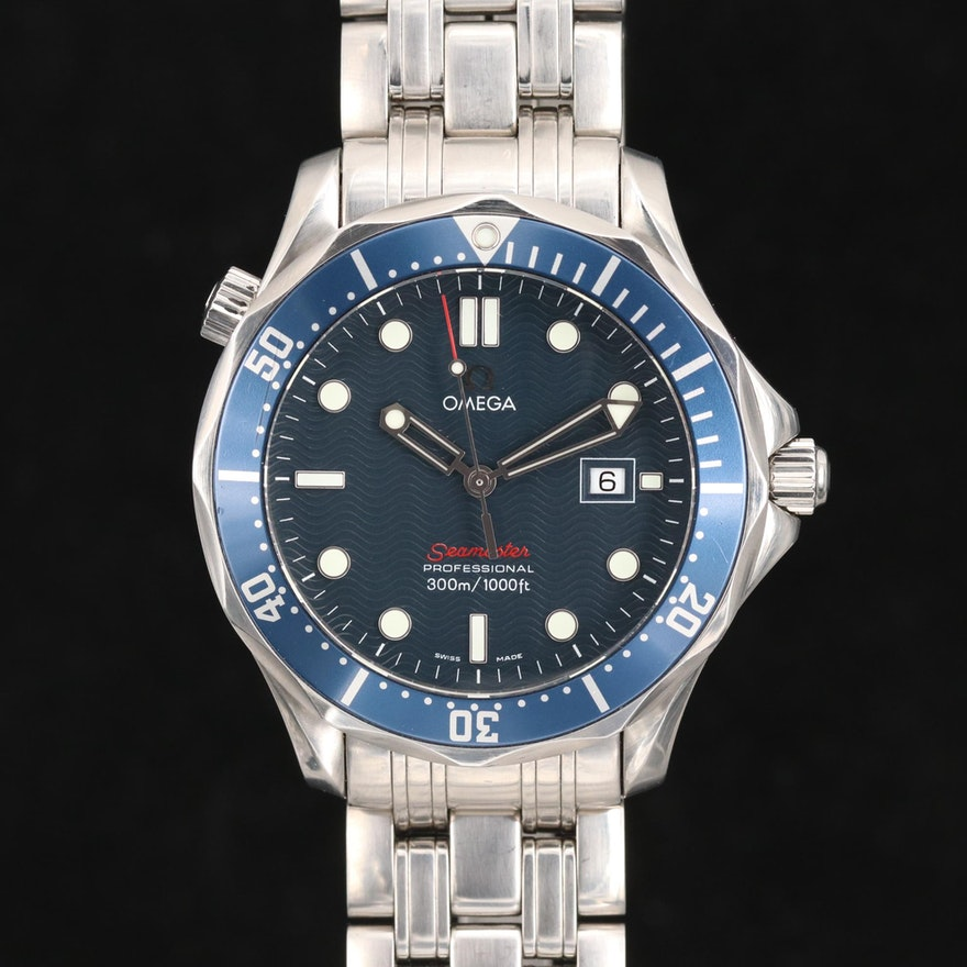 Omega Seamaster 300M Full Size Stainless Steel Quartz Wristwatch