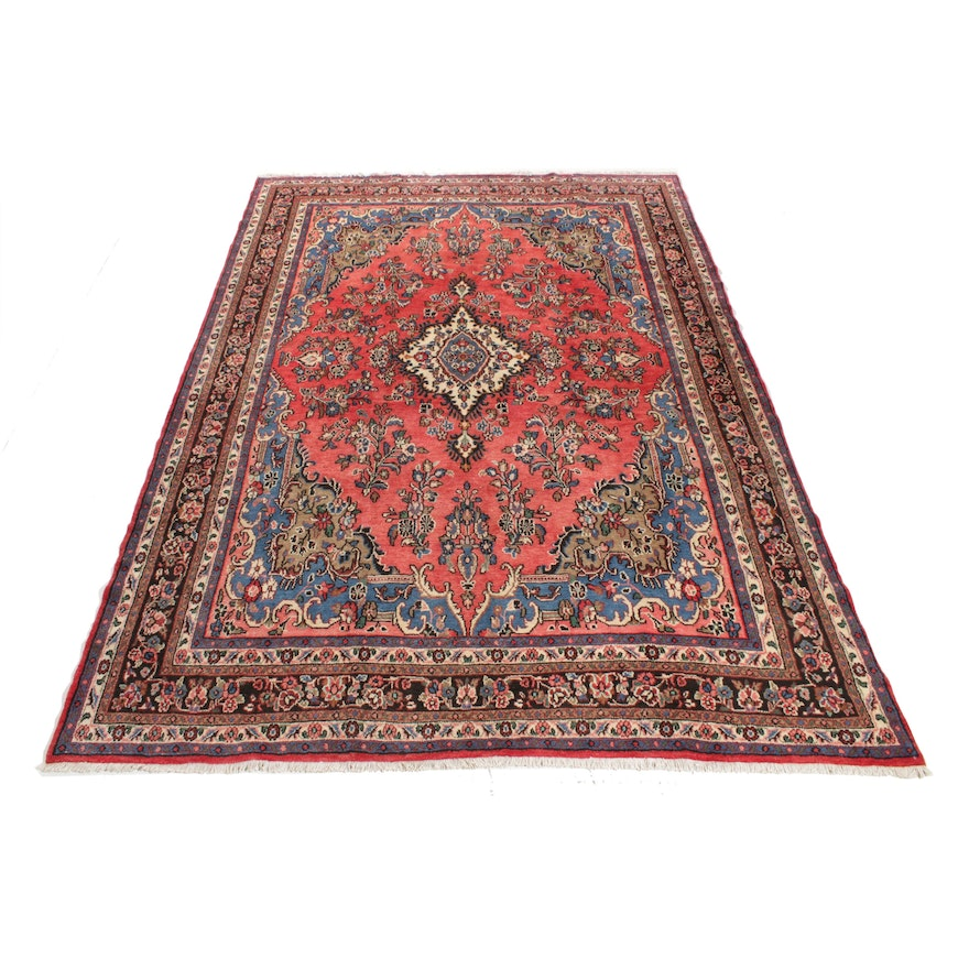 8'6 x 12'3 Hand-Knotted Persian Daragazine Rug, 1940s