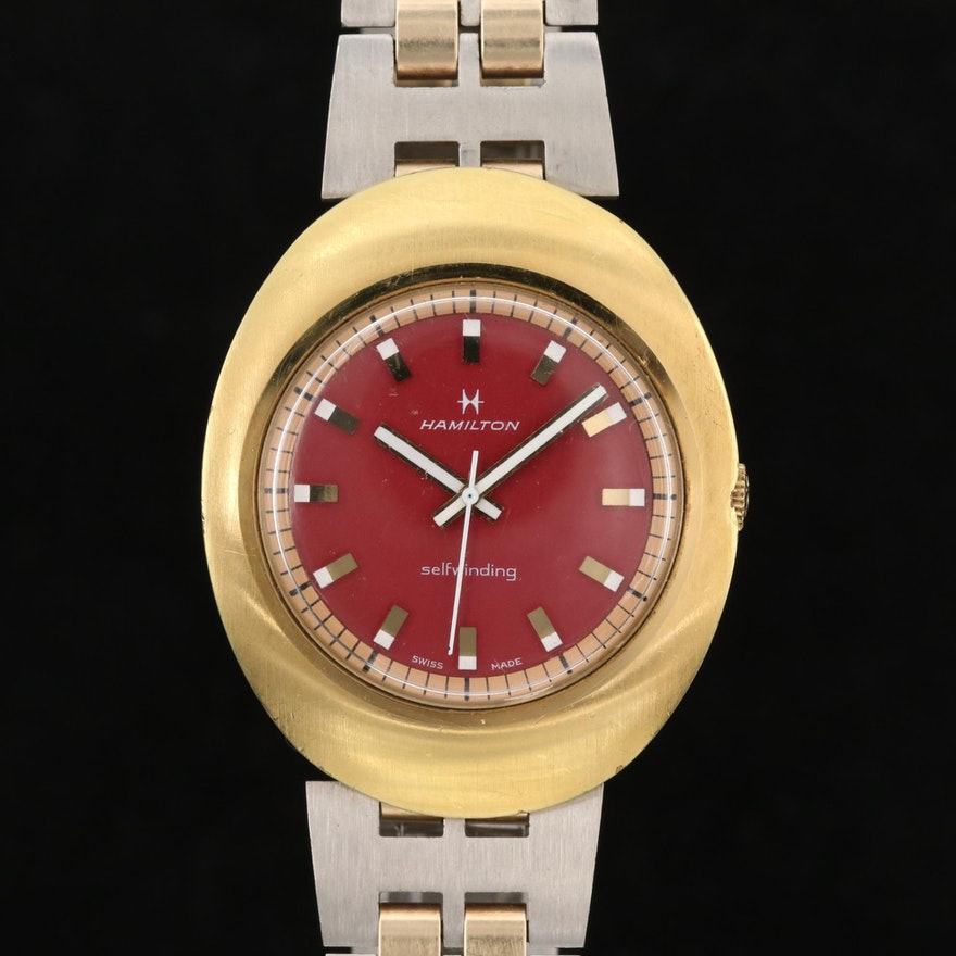 Hamilton Gold Filled and Stainless Steel Automatic Wristwatch, Vintage